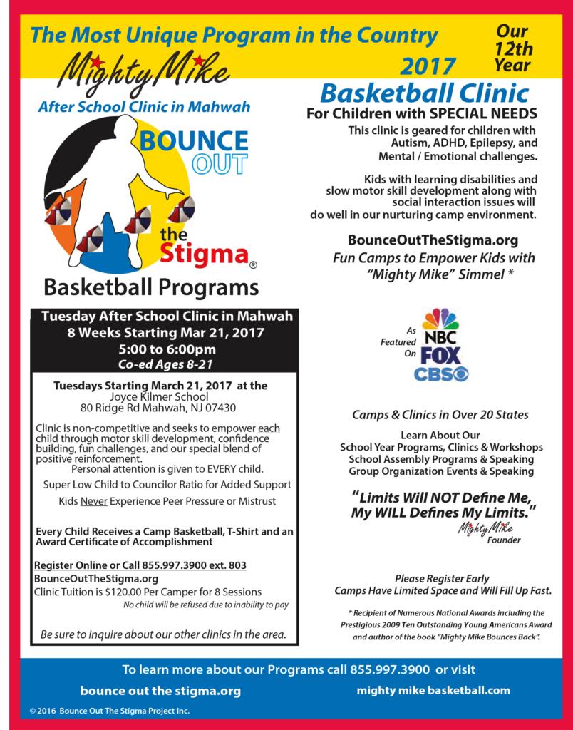 NJ Special Needs Basketball